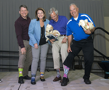 BC Foundation Blue Jacket Social Crazy Sock Contest Winners