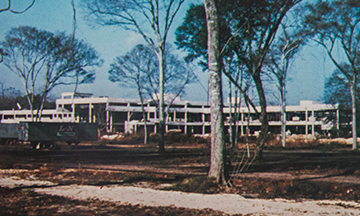 Construction of Brazosport College in 1970