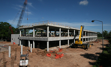 The Sadler Health Science Complex Under Construction