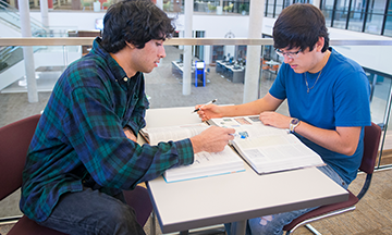 Students Studying in the Library at Brazosport College