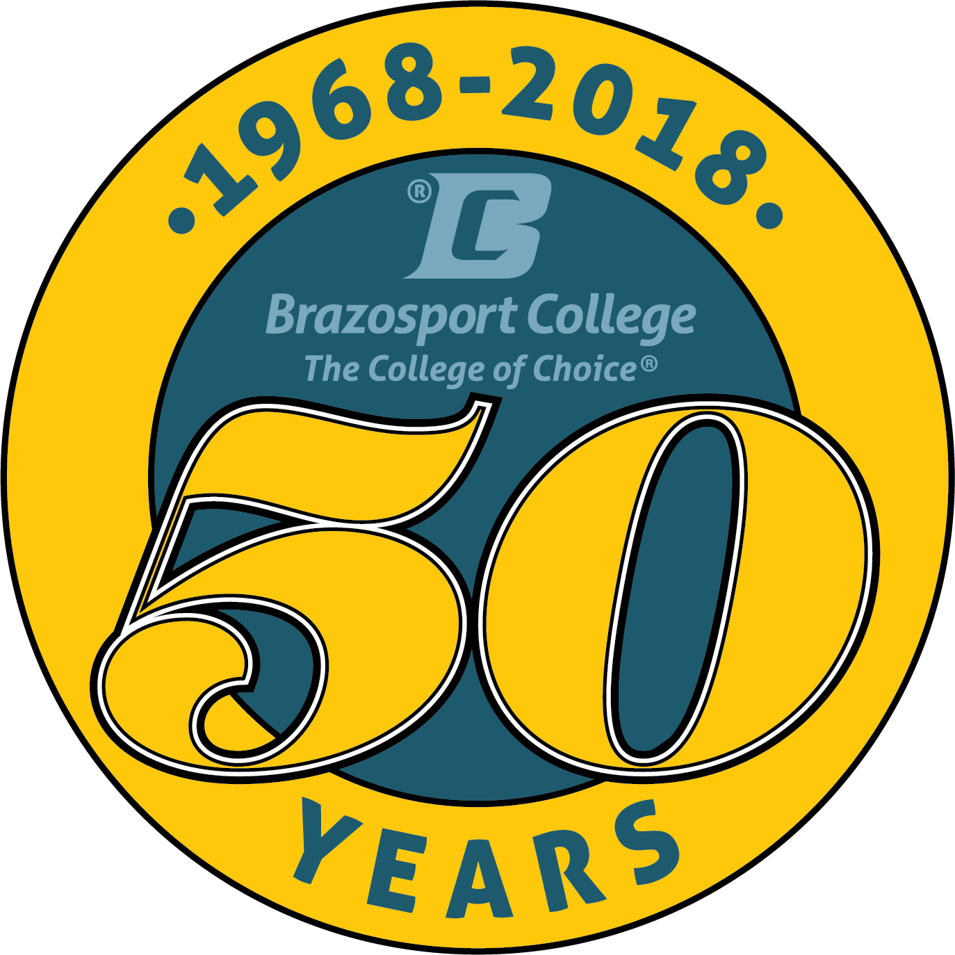 Brazosport College 50th Logo