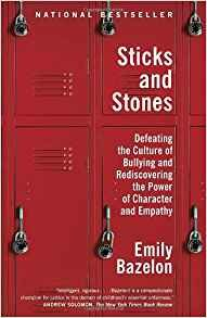 Cover of the book STICKS AND STONES with an image of four small lockers and six combindation locks.