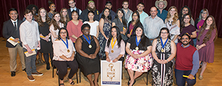 Brazosport College's Psi Psi Chapter of Phi Theta Kappa International Honor Society recently inducted its new members at a ceremony at The Clarion at Brazosport College.  Seventy-three students accept